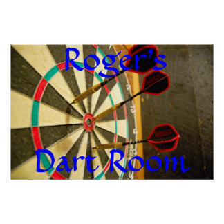 Personalized Dart Room Poster