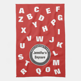 Personalized Daycare Alphabet Kitchen Towel