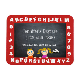 Personalized Daycare Alphabet Magnet