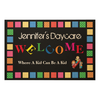 Personalized Daycare/Business Welcome Sign Wood Print