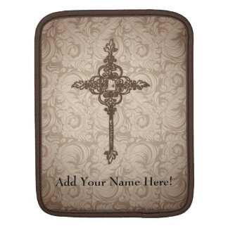 Personalized Decorative Cross Tablet Sleeve iPad Sleeve