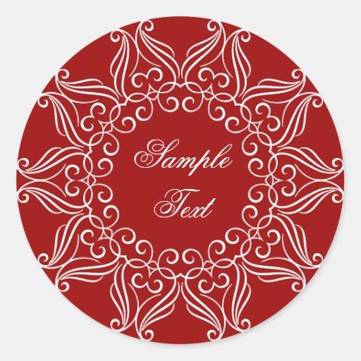 Personalized Decorative Design Round Sticker