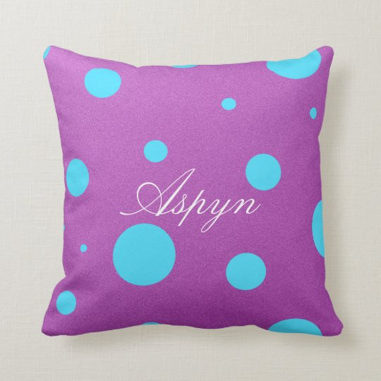 Personalized Decorative Polka Dot Pillow