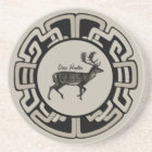 Personalized Deer Hunter Medallion Coaster