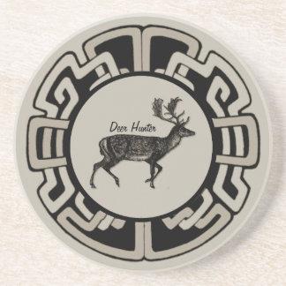 Personalized Deer Hunter Medallion Coaster