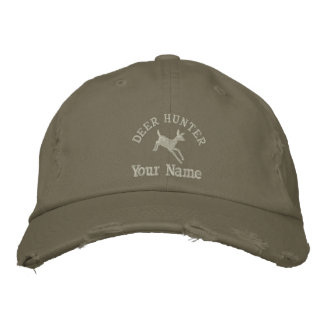 Personalized deer hunting embroidered baseball cap