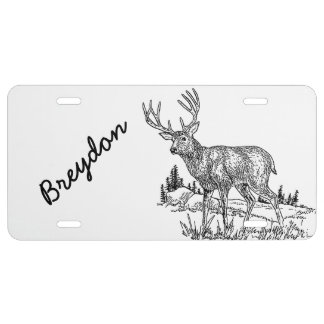 Personalized Deer License Tag License Plate