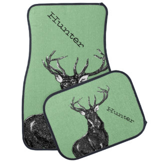 Personalized Deer Stag Car Mat