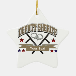 Personalized Deputy Sheriff Ceramic Ornament