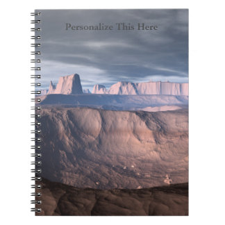 Personalized Desert of Ode Spiral Notebook