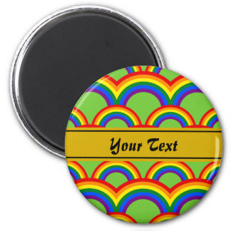 Personalized design with seamless rainbow pattern magnet
