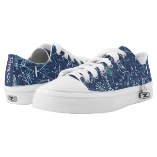Personalized Designer Physics Science Blue Low-Top Sneakers