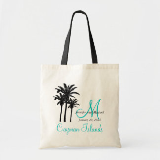 Personalized Destination Wedding Beach Guest Tote Bag