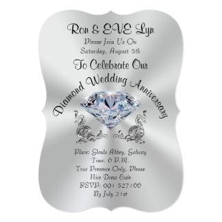 Personalized Diamond 60th Anniversary Invitations