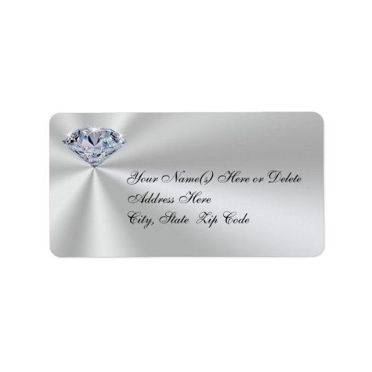 Personalized Diamond Anniversary Address Labels