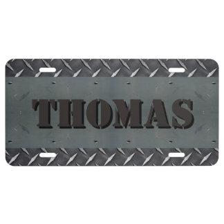 Personalized Diamond Plate Metal Texture