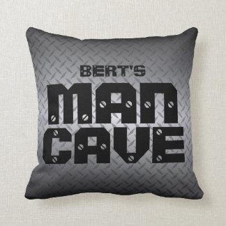 Personalized Diamondplate Man Cave Pillows
