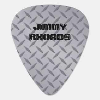 Personalized Diamondplate Steel Look Guitar Picks Guitar Pick