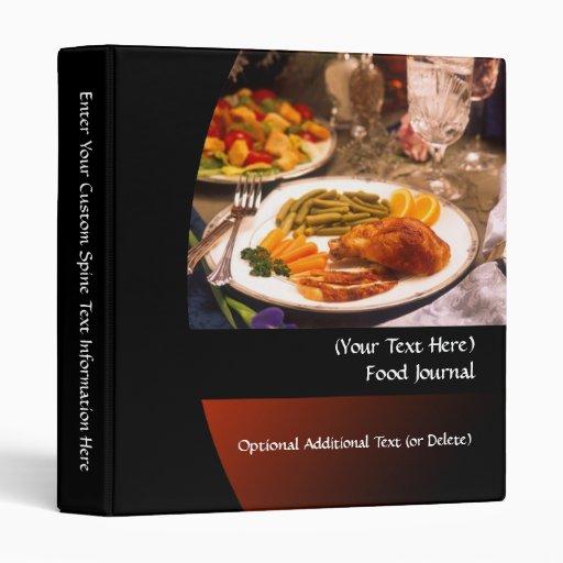 Personalized Diet/Food Journal Binder Binder