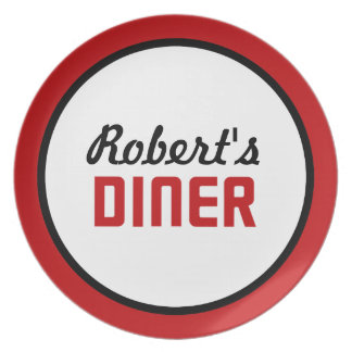 Personalized Diner Plate
