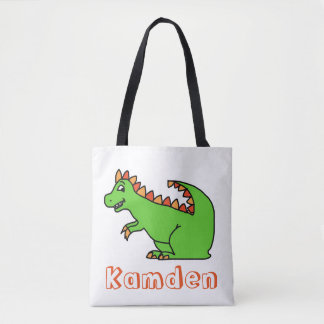 Personalized Dino tote bag