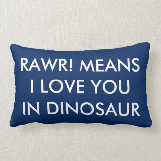 Personalized Dinosaur Lumbar Pillow Dino Decor