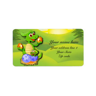 Personalized Dinosaur mother and baby cartoon