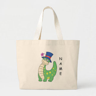 Personalized Dinosaur Tote