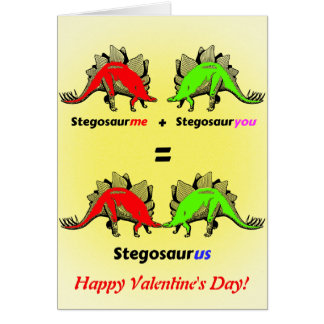 Personalized Dinosaur Valentine Card