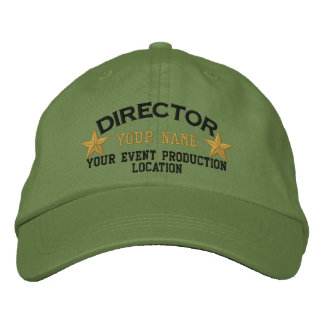 Personalized DIRECTOR Stars Cap Embroidery Embroidered Baseball Cap