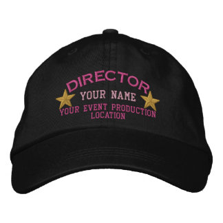 Personalized DIRECTOR Stars Cap Embroidery Embroidered Hats