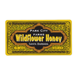 Personalized Dirigible Honey Jar