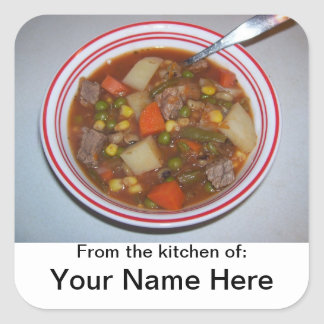 Personalized Dish / Recipe Sticker