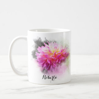 Personalized Divine Dahlia Coffee Mug
