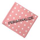 Personalized dog bandana | Coral pink polka dots