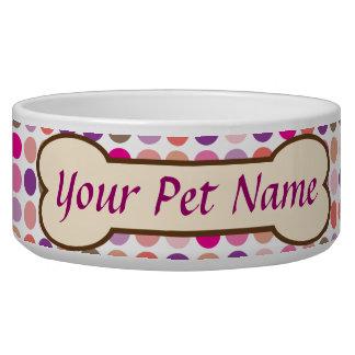 Personalized Dog Bone Pet Dish