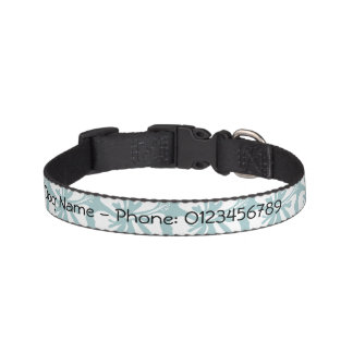 Personalized dog collar with cute flower pattern