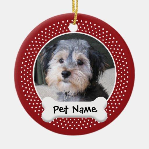 Personalized Dog Photo Frame - SINGLE-SIDED Christmas Ornaments