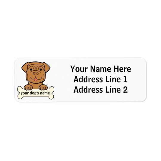 Personalized Dogue de Bordeaux Return Address Label
