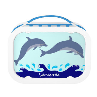 Personalized Dolphins In The Ocean Lunchbox