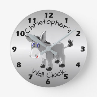 Personalized Donkey Design Clocks