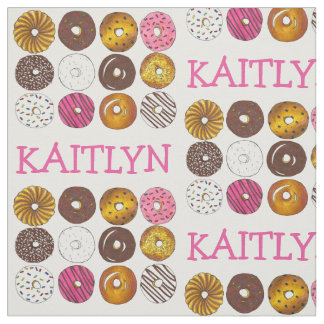 Personalized Donut Doughnut Breakfast Food Fabric