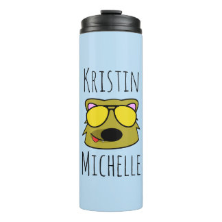 Personalized Doodle Face Dog Thermal Tumbler