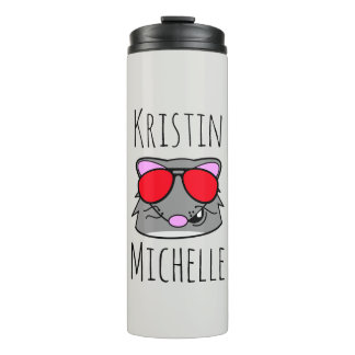 Personalized Doodle Face Rat Thermal Tumbler