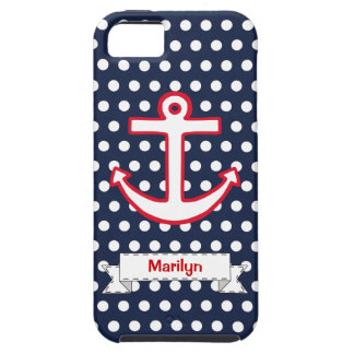 Personalized Dots Anchor iPhone 5 Case