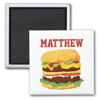 Personalized Double Cheeseburger Fridge Magnet
