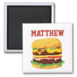 Personalized Double Cheeseburger Fridge Magnet