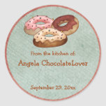 Personalized Doughnut Recipe Stickers