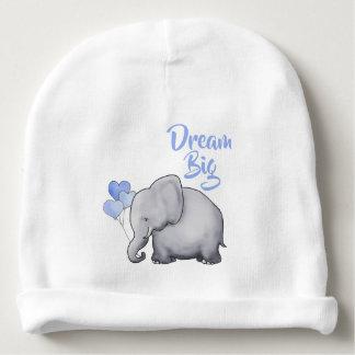 Personalized Dream Big Inspirational Cute Elephant Baby Beanie
