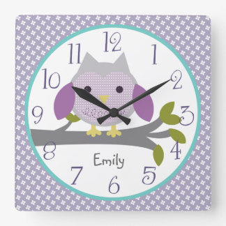 Personalized Dreamland Owl Nursery Clock